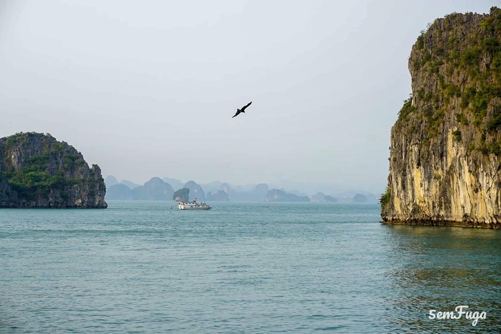 penhascos em Bai Tu Long Bay