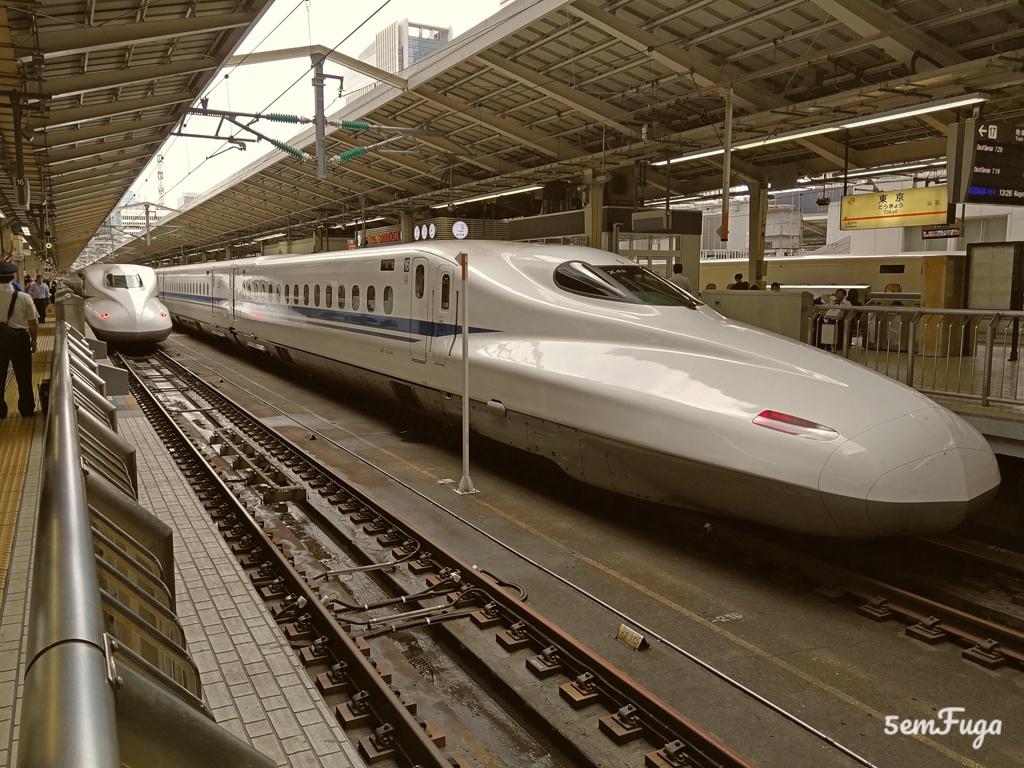 comboio bala típico do Japão