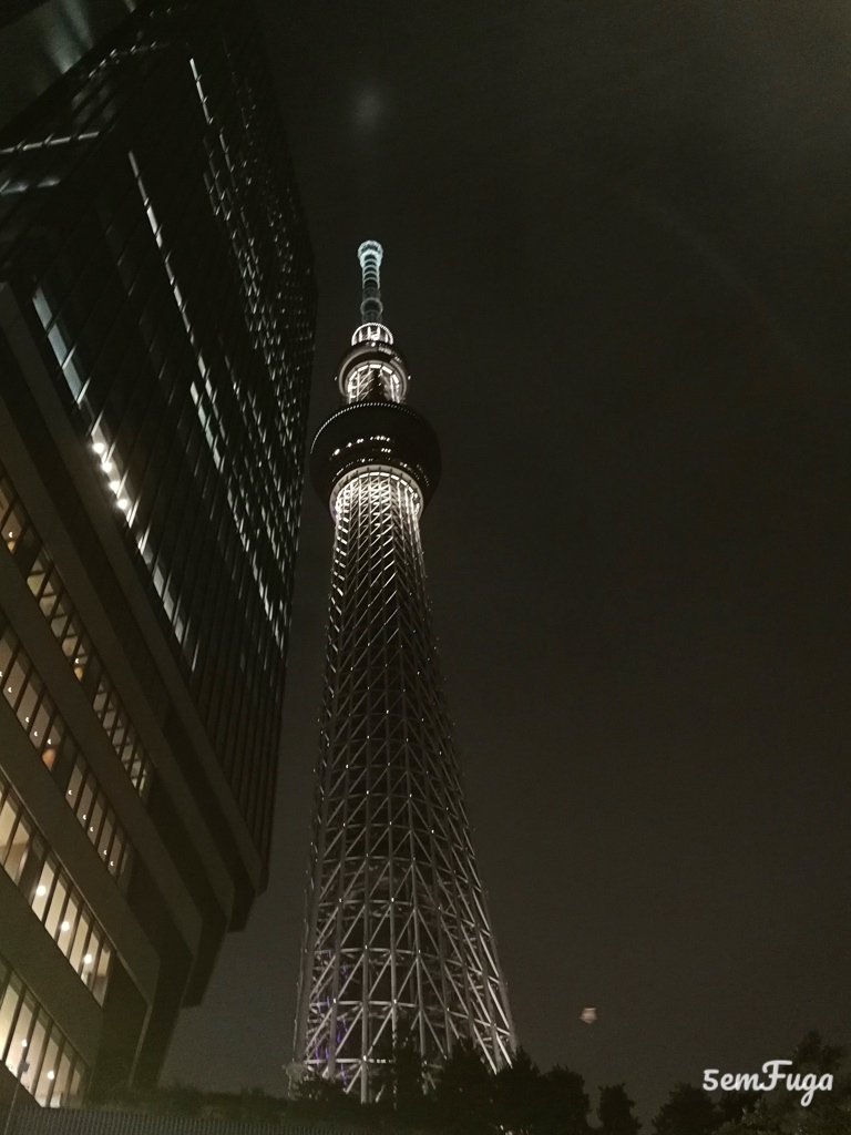 tokyo sky tree à noite