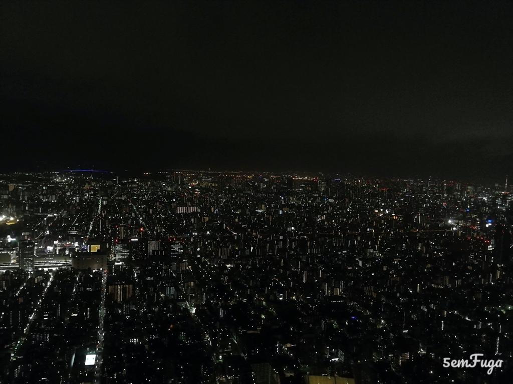 vista noturna de tóquio do cimo da sky tree
